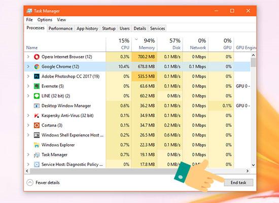 Dịch vụ khắc phục bộ nhớ Disk 100% đầy tràn và đơ lag